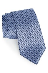 Nordstrom Men's Double Dot Geometric Silk Tie Navy