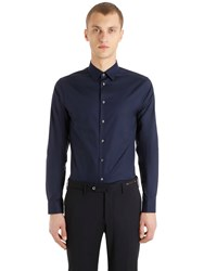 Eton Super Slim Fit Cotton Poplin Shirt Navy