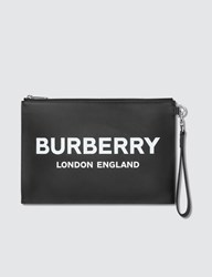 Burberry Logo Printed Pouch Black