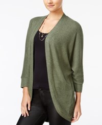 Hippie Rose Juniors' Cocoon Cardigan Olive Branch