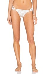 Beach Bunny Skimpy Bottom White