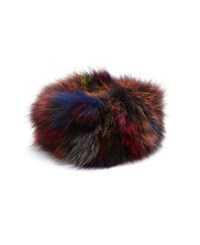 Adrienne Landau Multicolor Fox Fur Headband