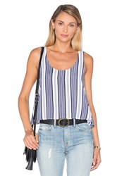 L'academie The Swing Tank Blouse Navy