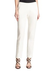 Trina Turk Varvara Straight Leg Ankle Pants White Wash