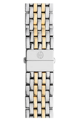 Michele 'Deco' 18Mm Two Tone Bracelet Watch Band
