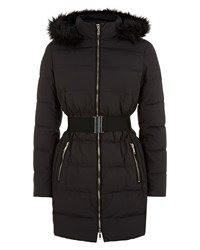 Jaeger Waisted Long Puffer Jacket Black