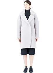 Charlie May Oversized Alpaca Wool Coat Grey