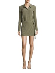 Halston Solid Smooth Romper Moss