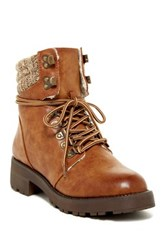 Mia Maylynn Faux Shearling Lined Hiking Boot Brown