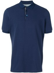 Brunello Cucinelli Classic Polo Shirt Blue