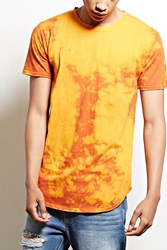 Forever 21 Entity Bleach Dye Cotton Tee Orange