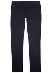 Tiger Of Sweden Laird Navy Stretch Cotton Chinos