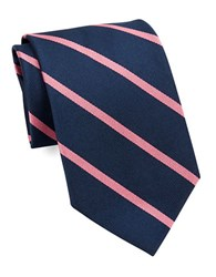 Brooks Brothers Silk Striped Tie Navy