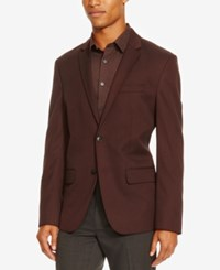 Kenneth Cole Reaction Men's Parlaiment Two Button Blazer Plumberry Combo