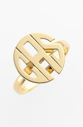 Women's Jane Basch Designs Personalized Monogram Ring Gold
