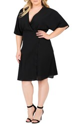 Standards And Practices Plus Size Women's Candice Georgette Wrap Dress