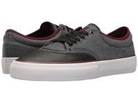 Converse Crimson Ox Shield Canvas Black Black Deep Bordeaux Men's Skate Shoes