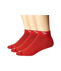 Drymax Sport Hyper Thin Running Mini Crew 3 Pack Torrid Red Low Cut Socks Shoes
