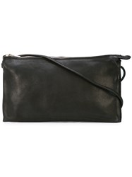 Guidi Shoulder Strap Clutch Bag Black
