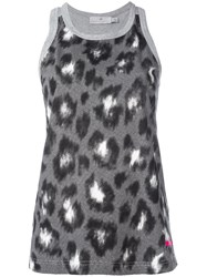 Adidas By Stella Mccartney Essentials Leopard Print Tank Top Grey