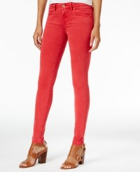 Tommy Hilfiger Greenwich Sateen Skinny Pants Only At Macy's Cardinal Red