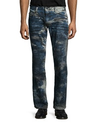 Robin's Jean Coated Paint Splatter Denim Jeans Blue Pattern