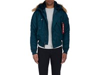 Alpha Industries Men's N 2B Hooded Insulated Bomber Jacket Navy