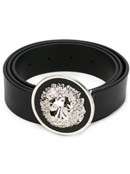 Versus Lion Buckle Belt Black