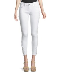True Religion Jennie Curvy Skinny Leg Crop Jeans White
