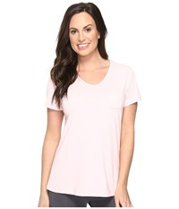 Jockey Short Sleeve Tee Powder Pink Women's Pajama White