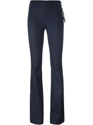 Moncler Bell Bottom Trousers Blue
