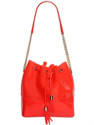 Kartell Pvc Bucket Bag With Metal Chain Detail