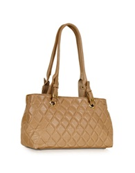 Fontanelli Quilted Leather Satchel Bag Tan
