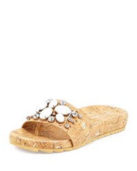 Donald J Pliner Trena 2 Jeweled Slide Sandal Silver