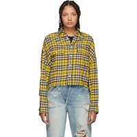 R 13 R13 Yellow Cropped Work Shirt