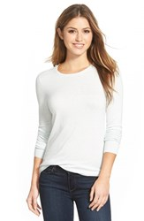 Women's Halogen Button Back Crewneck Sweater