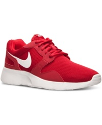Nike Men's Kaishi Casual Sneakers From Finish Line Gym Red White