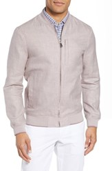 Ted Baker London Raney Trim Fit Linen And Cotton Jacket Dusky Pink