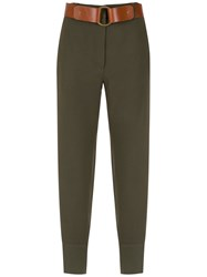 Spacenk Nk Belted Trousers Green