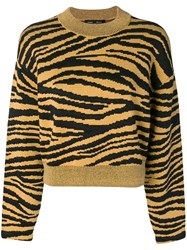 Proenza Schouler Tiger Print Pullover Yellow And Orange