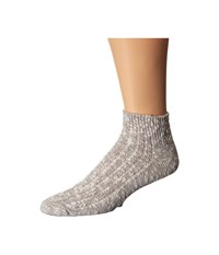 Wigwam Cypress Quarter Single Pack White Grey Quarter Length Socks Shoes