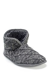 Muk Luks Mark Faux Fur Slipper Gray