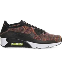 Nike Air Max 90 Ultra Flyknit Trainers Black Crimson Cobalt