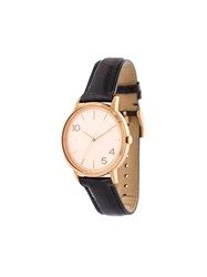 Forty Five Ten X Fossil Rose Gold Dial Watch Black