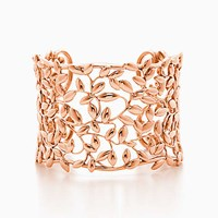 Tiffany And Co. Paloma Picasso Olive Leaf Cuff In 18K Rose Gold Medium.