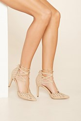 Forever 21 Mia Melonie Lace Up Pumps