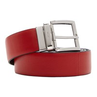 Prada Reversible Red And Black Double Belt