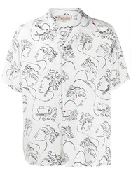 Esteban Cortazar Printed Short Sleeved Shirt White