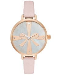 Kate Spade New York Women's Novelty Retro Pink Leather Strap Watch 34Mm 1Yru0879