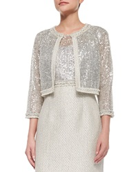 Kay Unger New York 3 4 Sleeve Sequined Lace Jacket